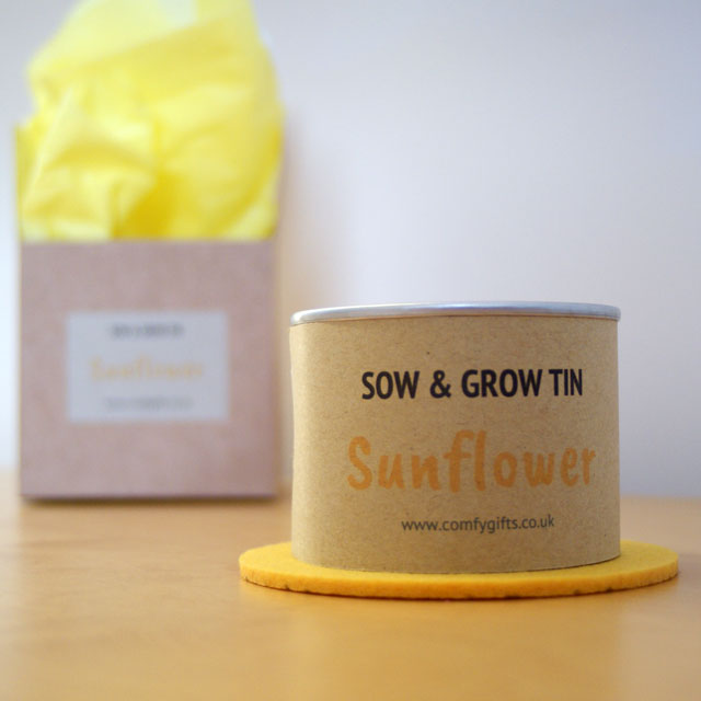 Sunflower grow your own gift set for children